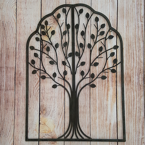 GIFTCRAFT FRAMED IRON TREE WITH LEAVES