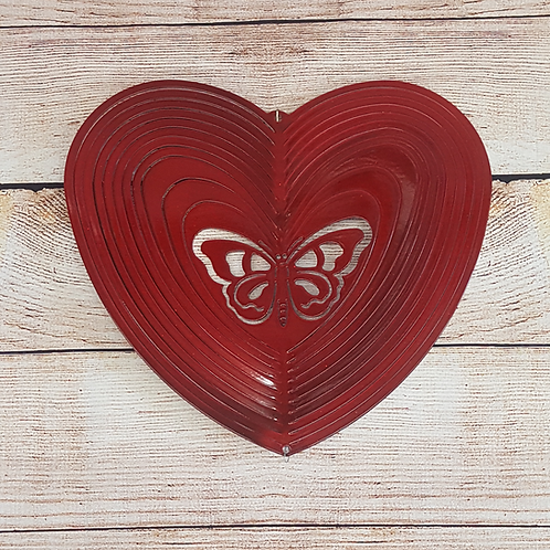 RED HEART SHAPE WITH BUTTERFLY CENTER