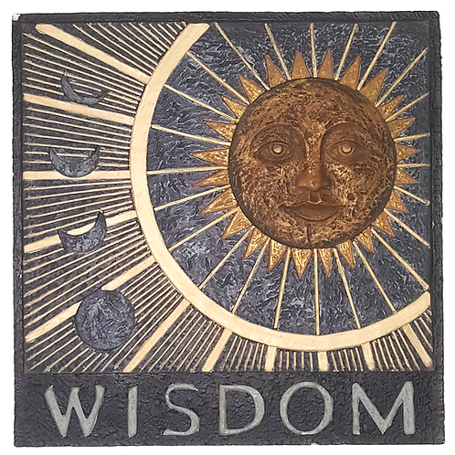 RUSS BERRIE SQUARE WISDOM WALL PLAQUE/STEP STONE