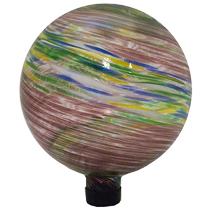 "VCS 10"" PURPLE/BLUE/YELLOW GLASS GAZING GLOBE"