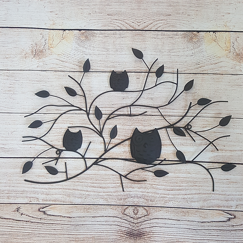 GIFTCRAFT WALL DECOR BRANCH WITH OWLS