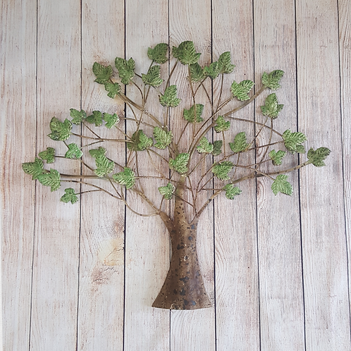 ASST METAL TREE WITH LEAVES (GREEN)