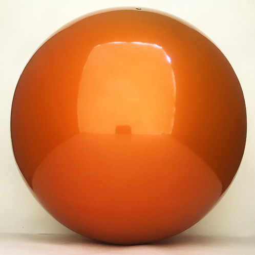 "VCS 10"" STEEL ORANGE GAZING GLOBE"