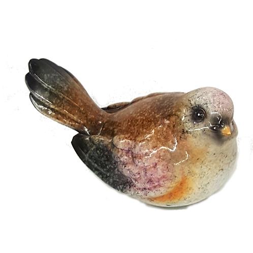 GIFTCRAFT GLASS BIRD (PINK&GOLD)