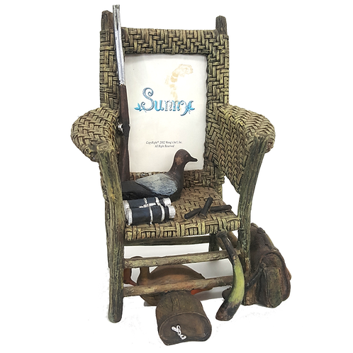 DUCK HUNTING CHAIR PICTURE FRAME