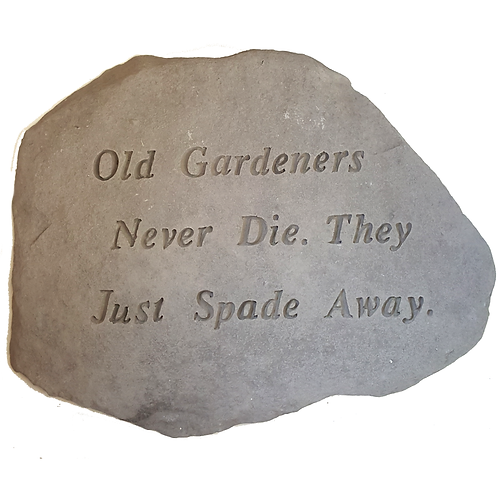 PLAQUE/STEP STONE OLD GARDENERS