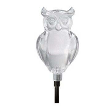 COLOR CHANGING LED SOLAR STAKE (OWL)