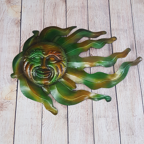 VCS WALL DECOR FLAMING METAL SUNFACE (GREEN, ORANGE, YELLOW)