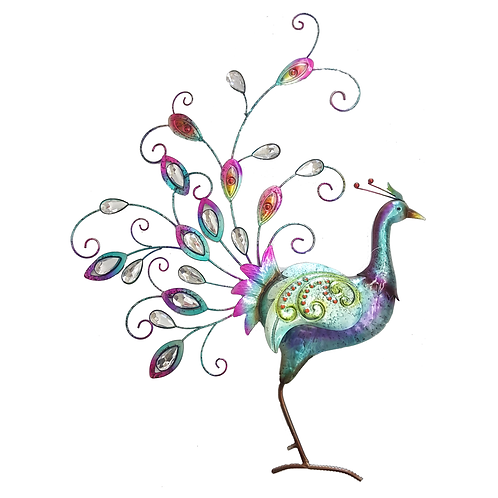 GIFTCRAFT PEACOCK WALL DECOR