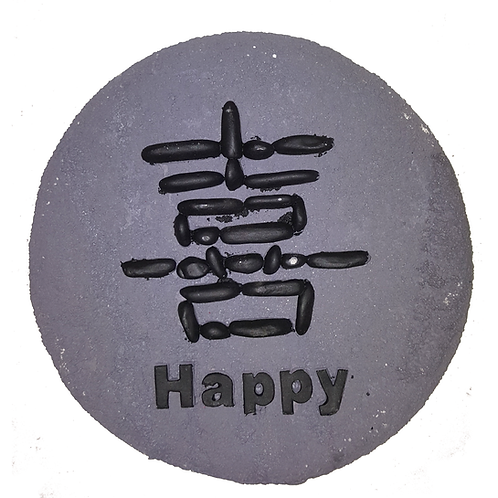 "GIFTCRAFT PLAQUE/STEP STONE ""HAPPY"""