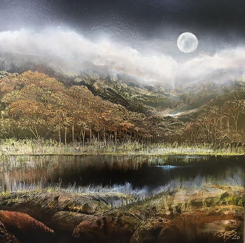 10. When Darkness Falls-61x61cm (floatin