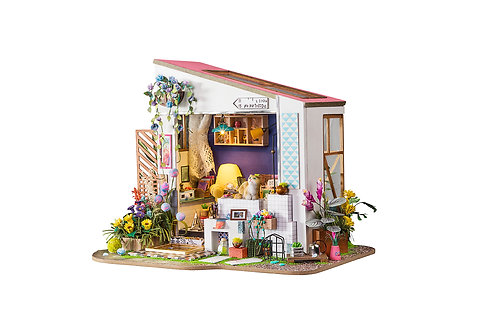 Miniature Dollhouse Kit with LED light - Lily's Porch