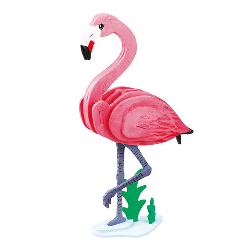 3D painting puzzle: Flamingo