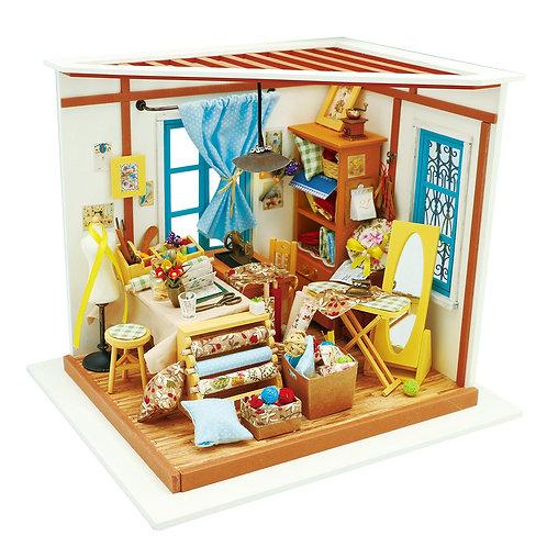 Miniature Dollhouse Kit with LED light - Lisa's Tailor Shop