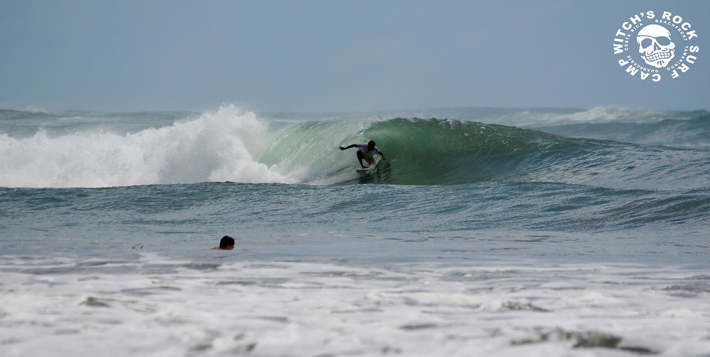 Another nice tube ride by an unidentified surfer, Playa Avellanas