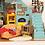 Thumbnail: Miniature Dollhouse Kit with LED light - Joy's Peninsula Living Room