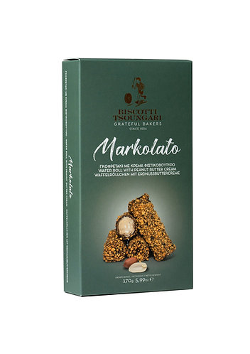Markolato Wafers filled with Peanut butter 150gr