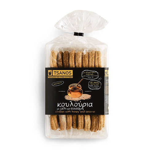Tsanos cookies with honey & sesame 300gr