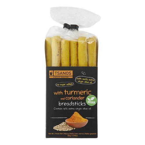Tsanos breadsticks with tumeric & coriander 120gr