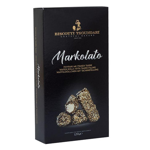 Markolato Wafers filled with Tahini cream 170gr
