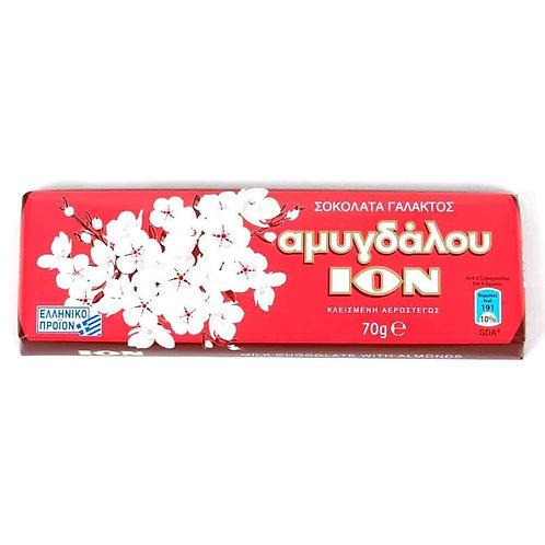 ION MilkChocolate with almonds 70gr