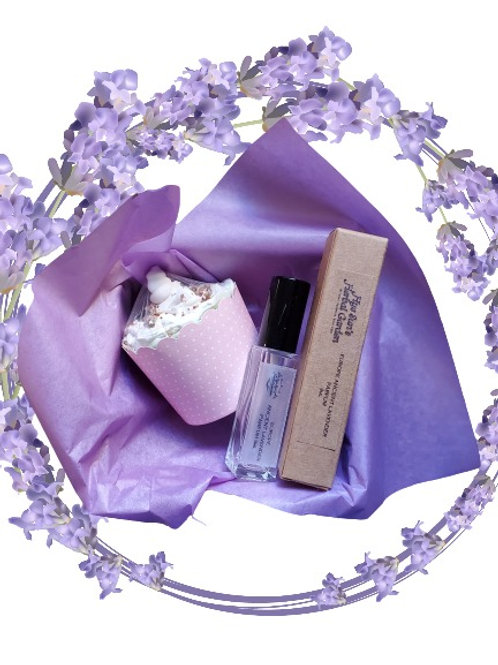 Christmas Gift Pack ~ Parfum (Lavender) with Cupcake Soap