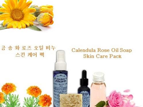 Calendula Rose Oil Soap Skin Care Pack