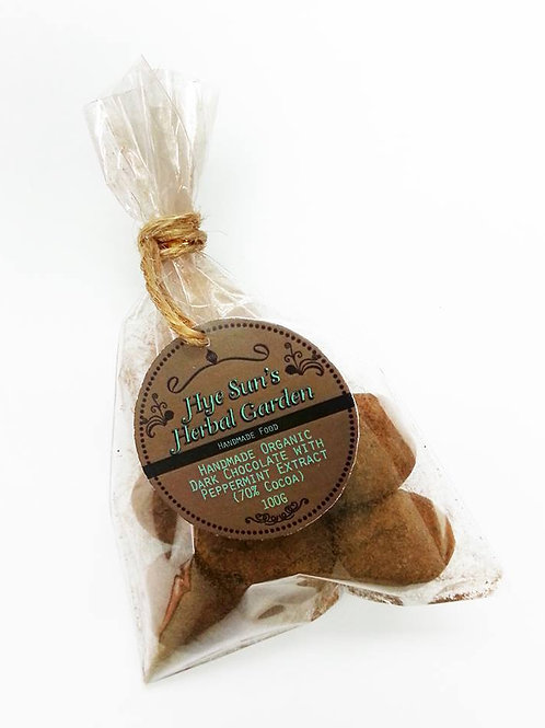 Homemade Organic 70% Dark Peppermint Chocolate