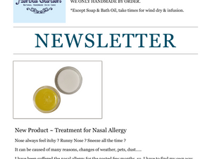 New Product ~ Treatment of Nasal Allergy