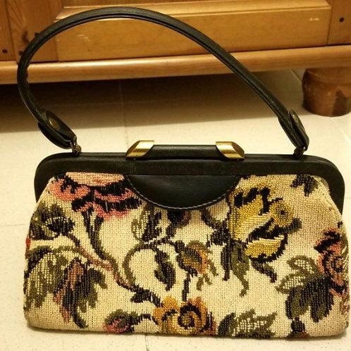 1950 Vintage Tapestry Handbag