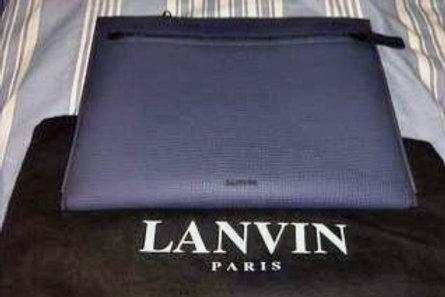 Lanvin Blue Grey Sheepskin Clutch