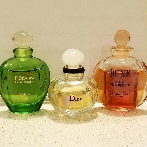 Dior Eau de Toilette Sample Size (3 bottles)