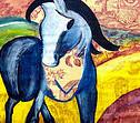 Blaues Pferd Impression