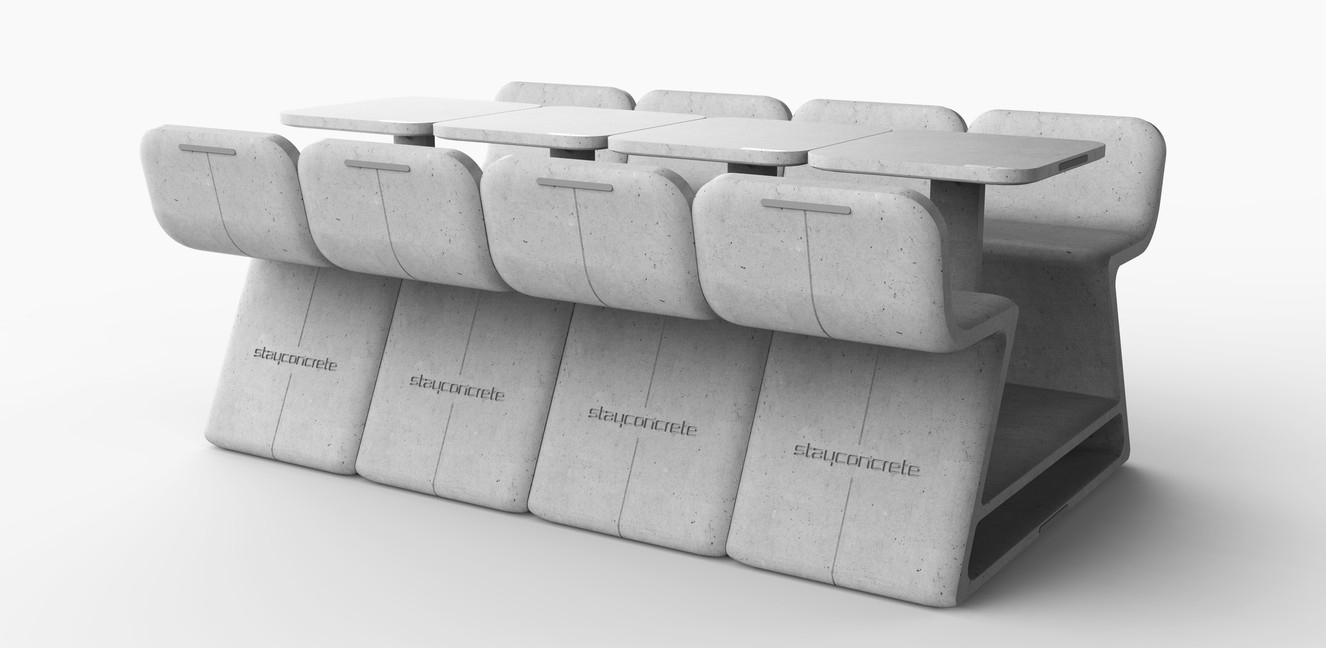 Stayconcrete heated bench