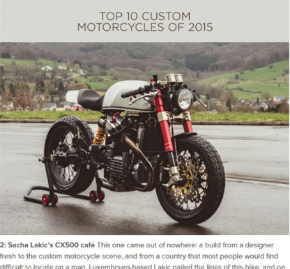 THE CX500 RATED 2ND OF THE BEST CUSTOM BUILDS OF 2015