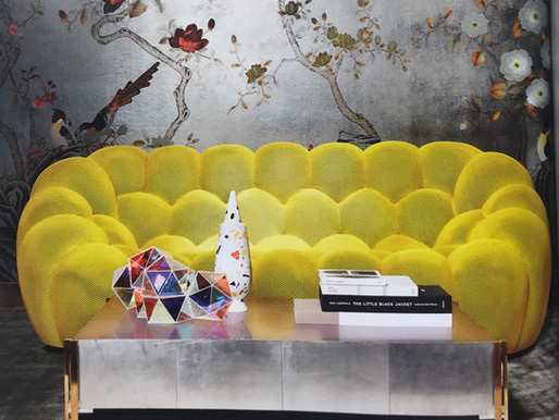BUBBLE SOFA - ARCHITECTURAL DIGEST - FRENCH EDITION AUGUST/SEPTEMBER