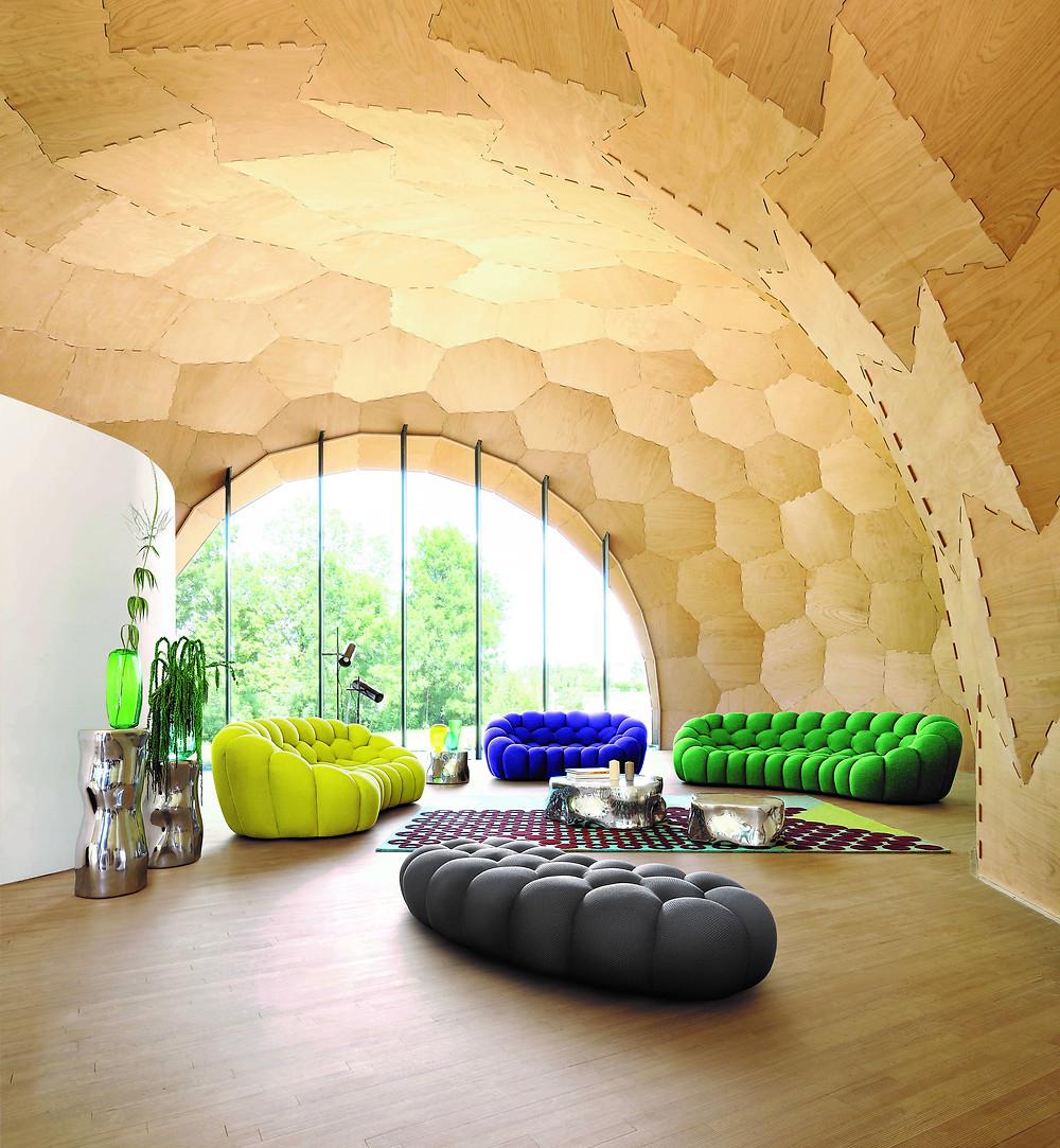 Bubble Sofa Roche Bobois new curved bubble sofa - roche bobois