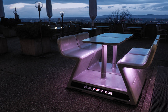 Stayconcrete Heated Benches