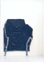 Full face, 2000, acrylique s/montage en papier, 90 x 80 cm