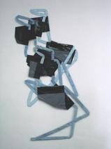 Totem, 2004, acrylique s/montage en papier, 220 x 100 cm  © photographe Ruth Gurvich