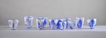 Ensemble pleurs, 2001-2002, acrylique s/montage en papier, 12 x 70 cm (environ)  © photographe Ruth Gurvich