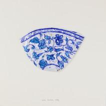 Bol, 1996, papier, aquarelle, vernis, 25.5 x 25.5 cm  © photographe Pierre Verrier