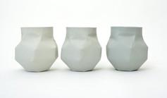 Grey vase II (série limite), 2017, porcelaine teinte dans la masse, H 13.8, Ø 14 cm  © Nymphemburg