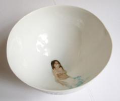 """Indigenous bol en porcelaine décors """"petit feu"""" (detail), 2009, H 7.5 cm, Ø 15 cm  © photographe Ruth Gurvich"""