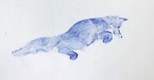 Hunting sketches, Renard, 2017, aquarelle sur papier, 24 x 18 cm © Ruth Gurvich