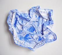 Tourbillon, 2009, aquarelle s/montage en papier, 25.5 x 25.5 cm  © photographe Ruth Gurvich