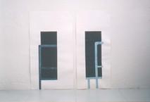 Cut (dyptique), 2000, collage, 90 x 80 cm