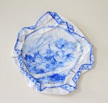 Delft, 2009, aquarelle s/montage en papier, 27.5 x 27.5 cm  © photographe Ruth Gurvich