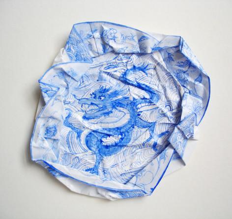Dragon, 2009, aquarelle s/montage en papier, 27.5 x 27.5 cm  © photographe Ruth Gurvich