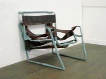 Wassily, 2004, stucture métallique, acrylique s/montage en papier, 72 x 70 x 79 cm  © photographe Ruth Gurvich